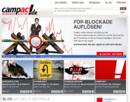 Campact Webseite